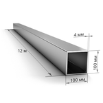 Труба профильная 100×100×4