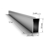 Труба профильная 100×50×3